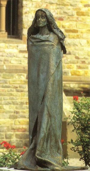 Statue of St. Hildegard of Bingen